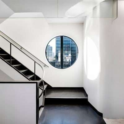 Staircase at NeueHouse Hollywood designed by Rockwell Group