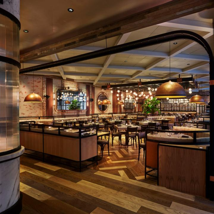 Catch Steak restaurant's main dining room designed by Rockwell Group