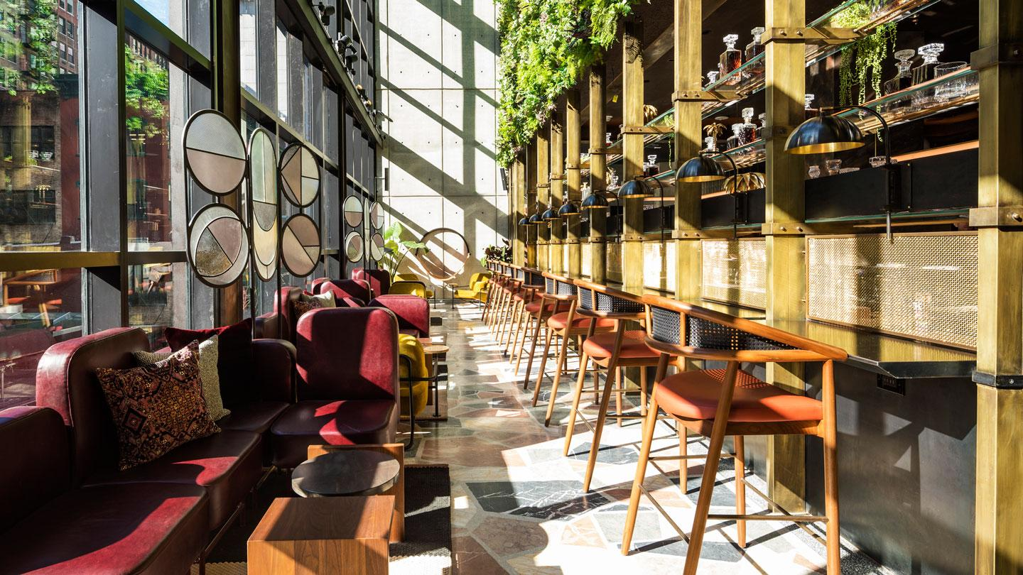 Moxy Chelsea's Conservatory in daylight