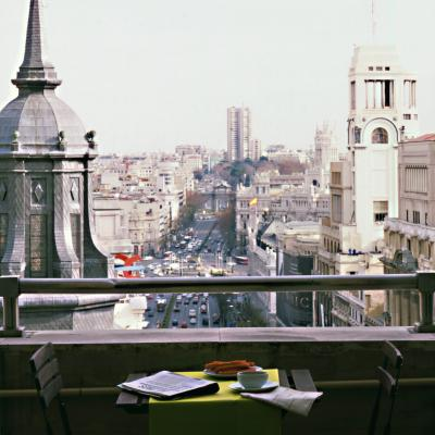 Terrace with view of Madrid