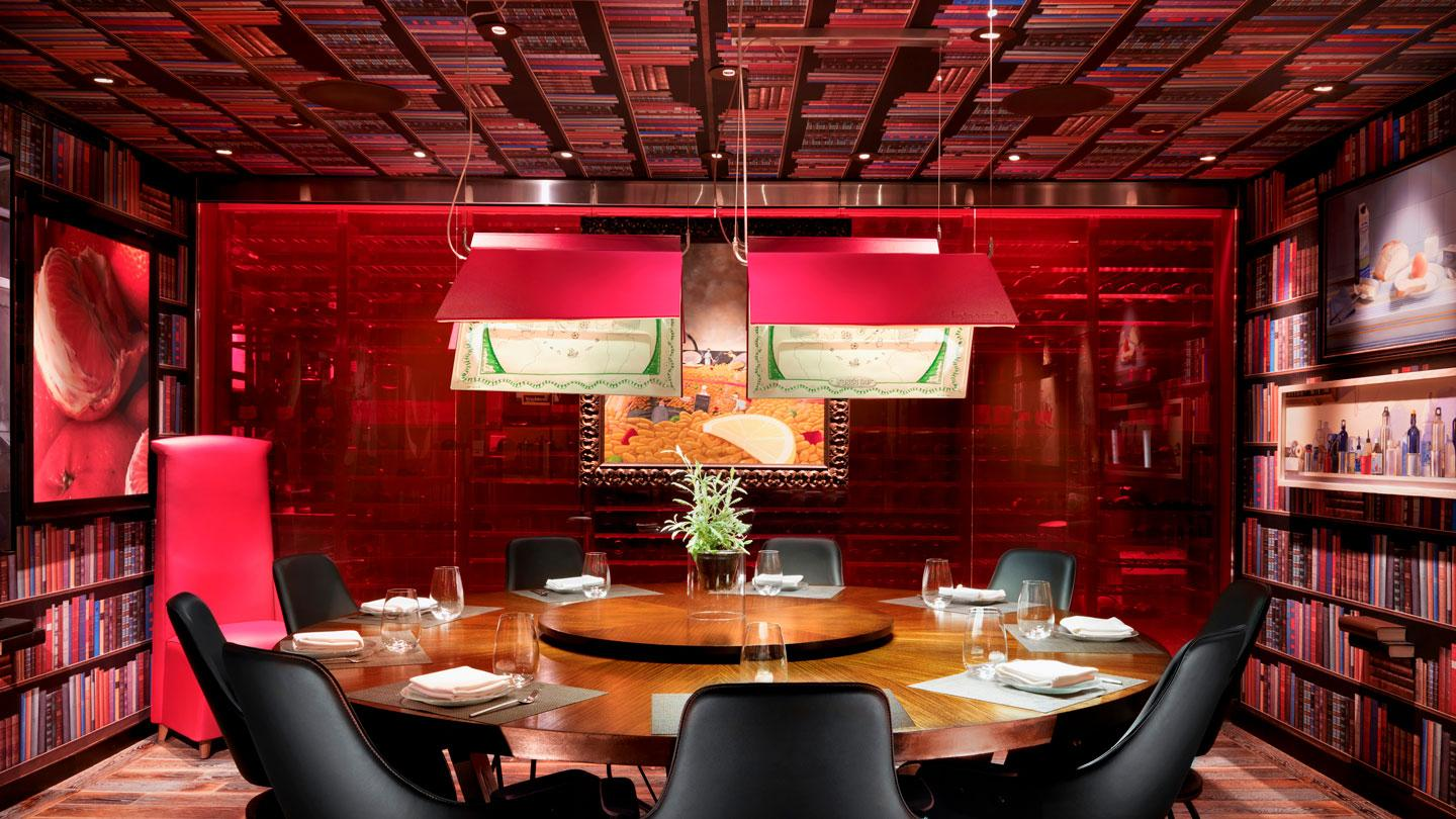 Jaleo's private dining room at The Cosmopolitan of Las Vegas designed by Rockwell Group Madrid
