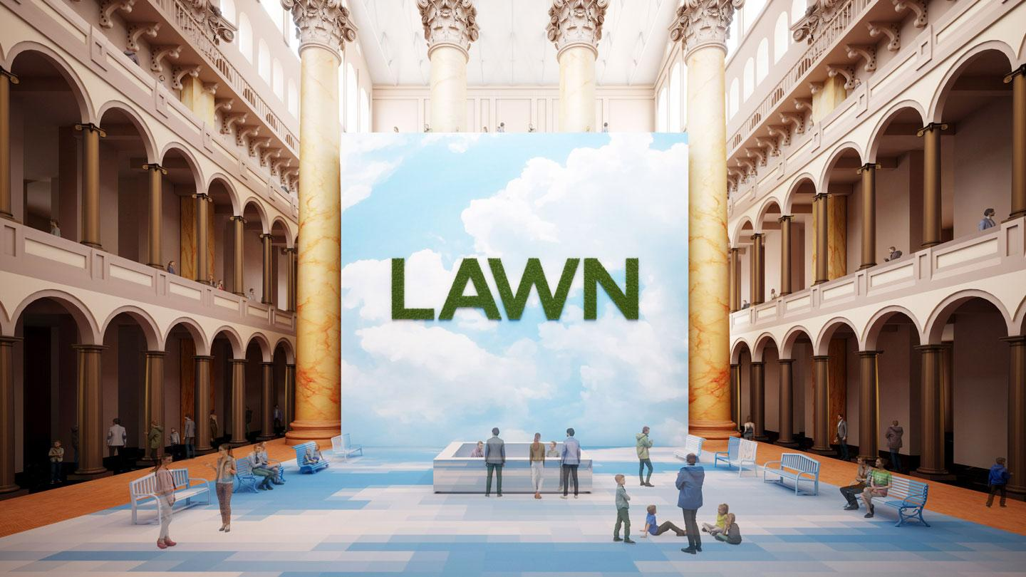 The entry of LAWN at the National Building Museum.
