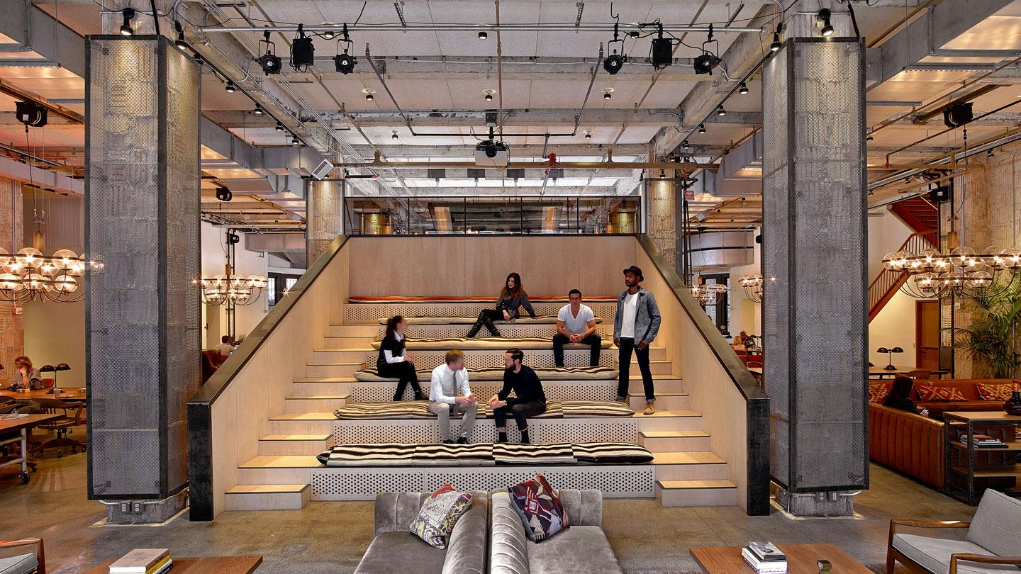 NeueHouse co-working designed by Rockwell Group