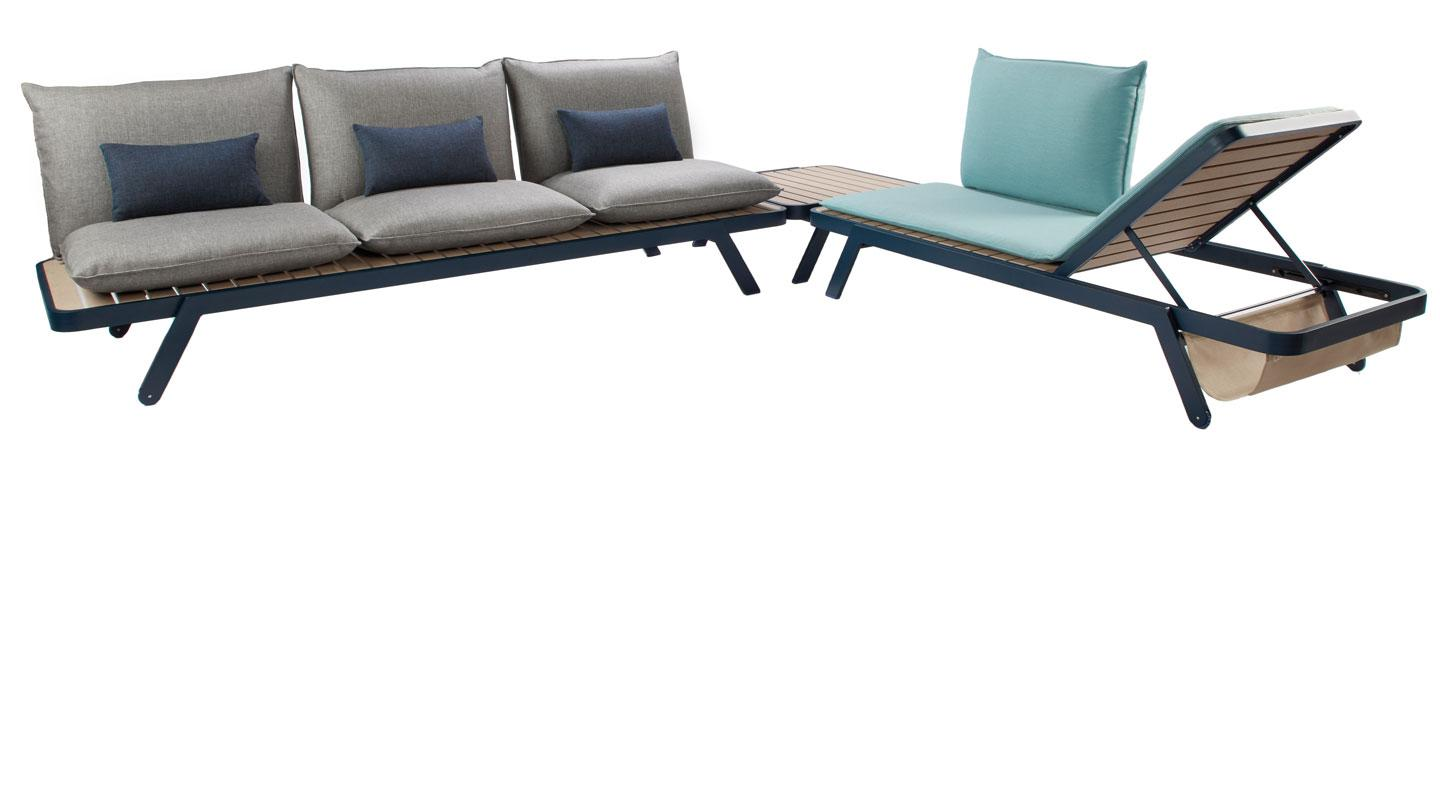 Outdoor furniture designed by Rockwell Group and Roche Bobois.