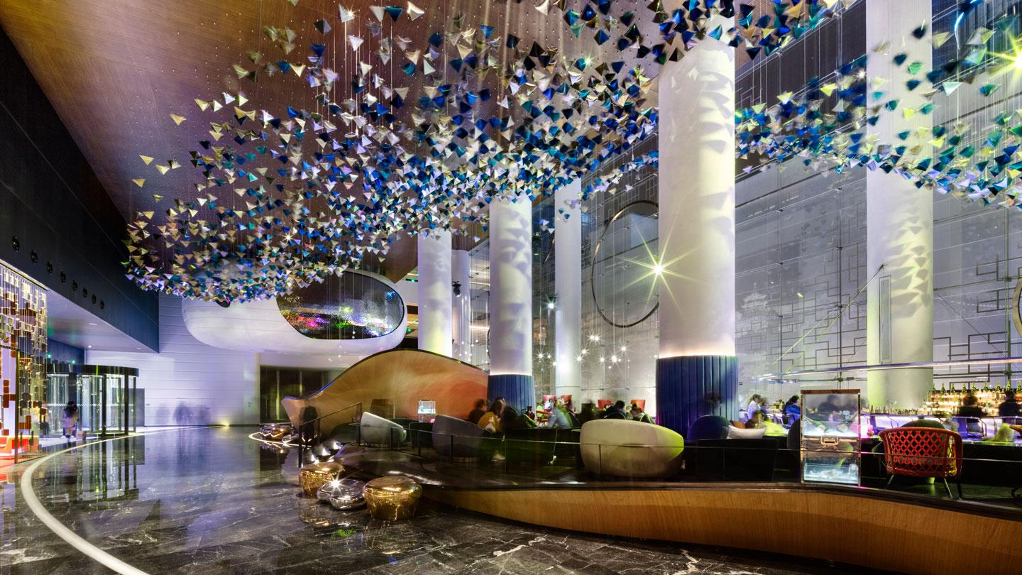 W Suzhou's lobby designed by Rockwell Group Madrid in China