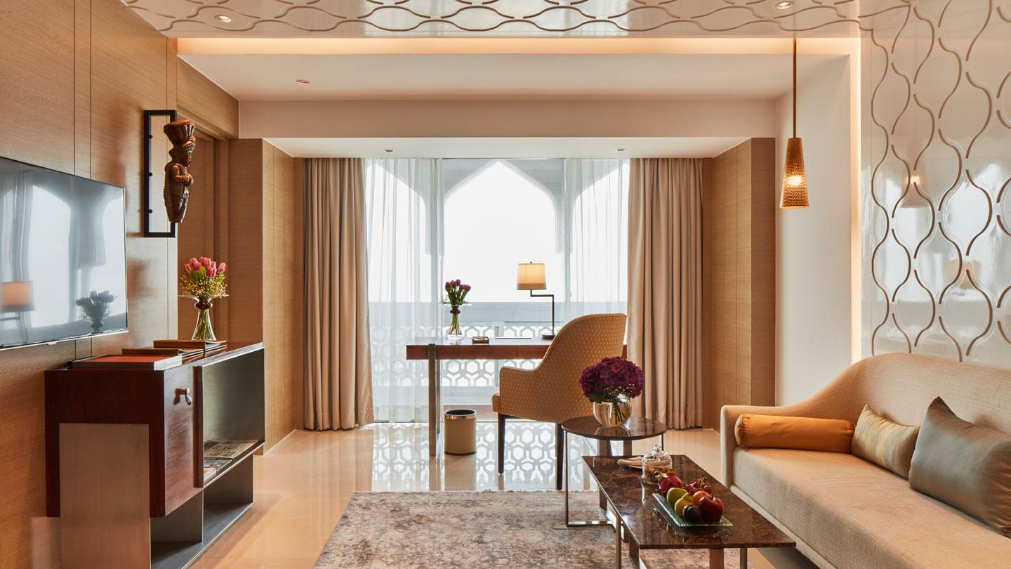 The guestrooms at the Taj Mahal Palace designed by Rockwell Group in India.