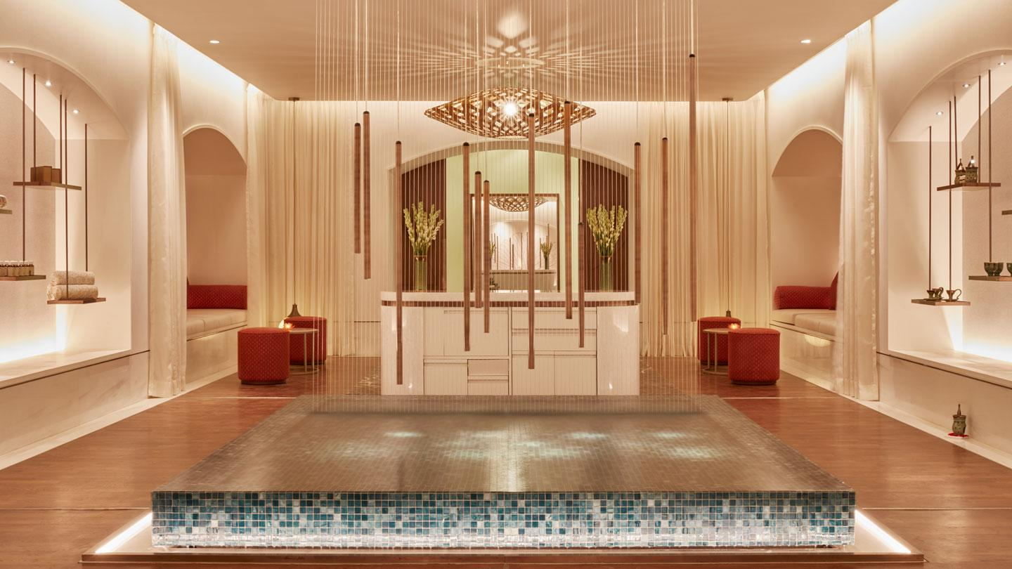 The spa at the Tah Mahal Palace designed by Rockwell Group, Madrid.