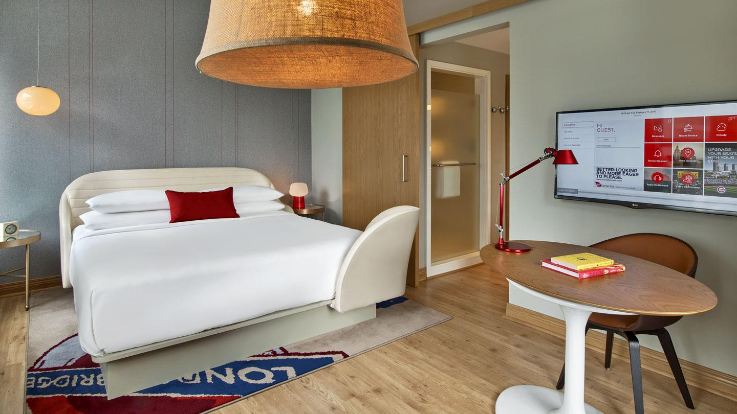 Virgin Hotels Chicago's guestroom designed by Rockwell Group Madrid